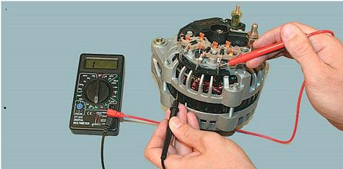 Проверка генератора тестером