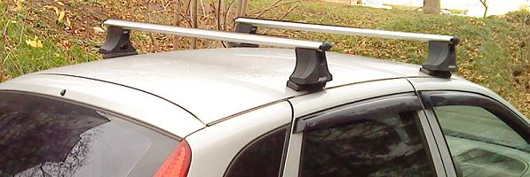 Установка багажника на крышу Лада Калина